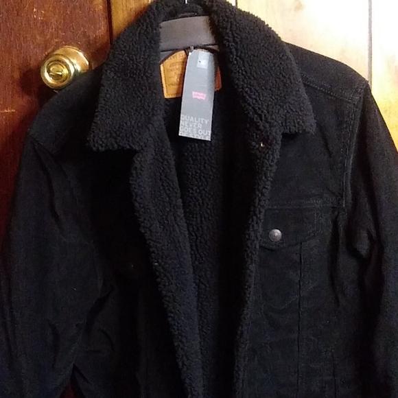 Levi's Denim-Black Sherpa Jacket
